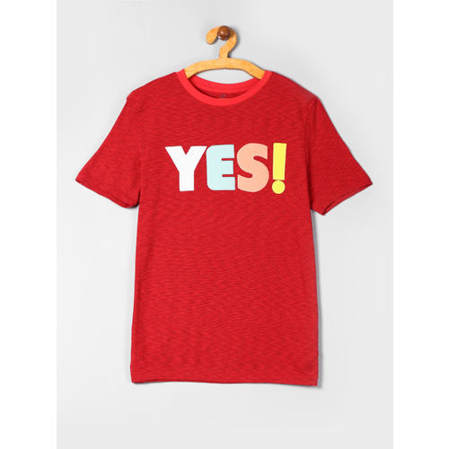 GAP Boys Red Graphic Short Sleeve T-Shirt
