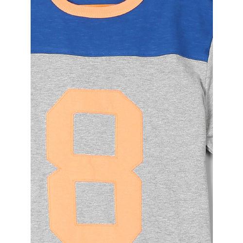 GAP Boys Grey & Blue Graphic Short Sleeve T-Shirt