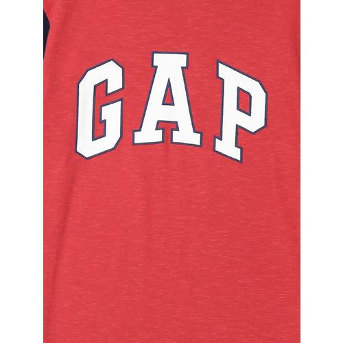 GAP Boys Red Printed Round Neck T-Shirt