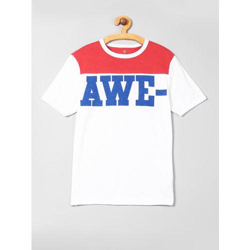 GAP Boys White & Red Graphic Short Sleeve T-Shirt