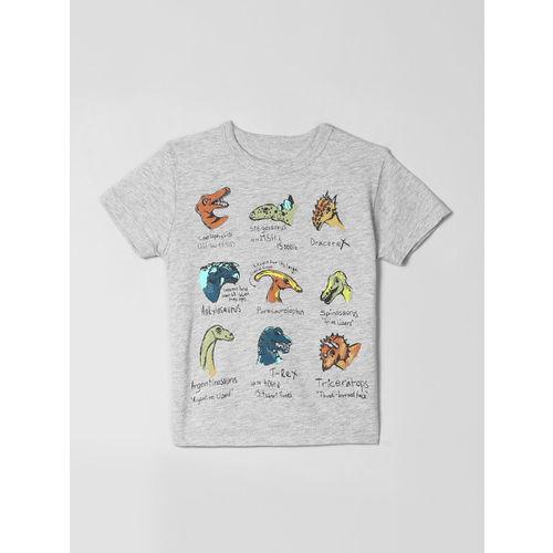 GAP Baby Boys Grey Graphic Printed Short Sleeve T-Shirt