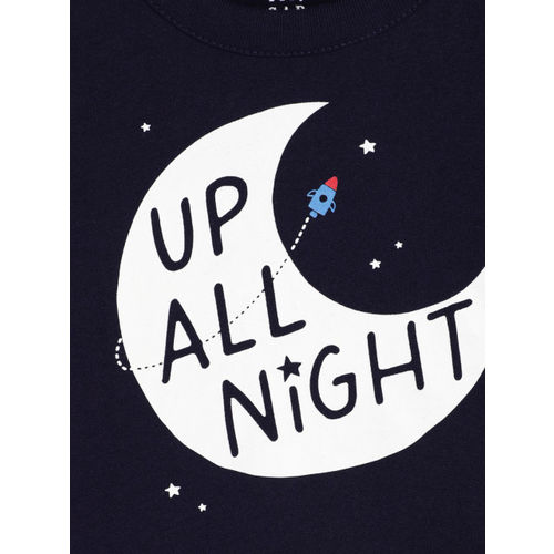 GAP Baby Boys' Navy Blue Printed T-Shirt