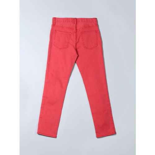 GAP Boys Red Jeans In Slim Fit With Stretch
