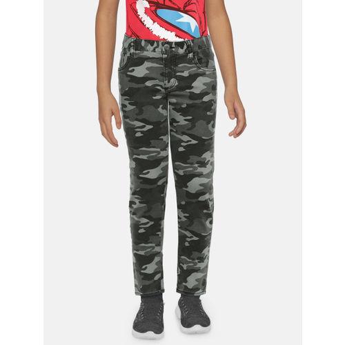 GAP Boys' Olive Green Slim Camouflage Jeans
