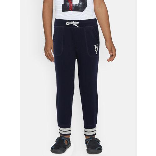 GAP Boys Navy Blue Regular Fit Solid Joggers