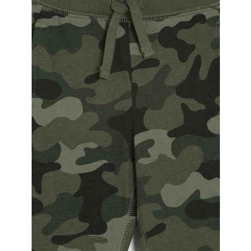 GAP Baby Boys' Olive Green Pull-On Camo Joggers