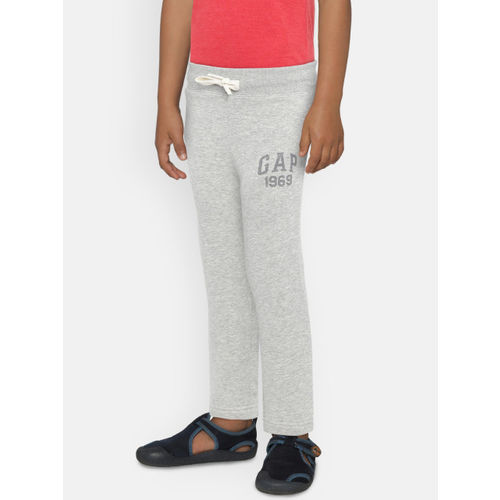 GAP Boys' Grey Logo Pants in Fleece
