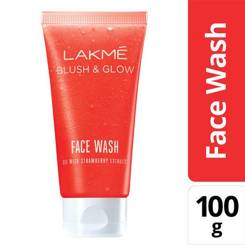Lakme Blush & Glow Strawberry Gel Face Wash