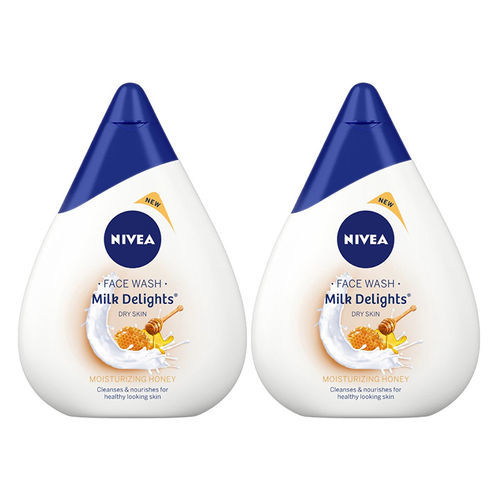 Nivea Milk Delights Moisturizing Honey Face Wash Pack Of 2