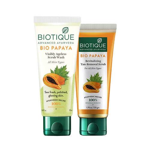 Biotique Papaya Facewash & Scrub Combo
