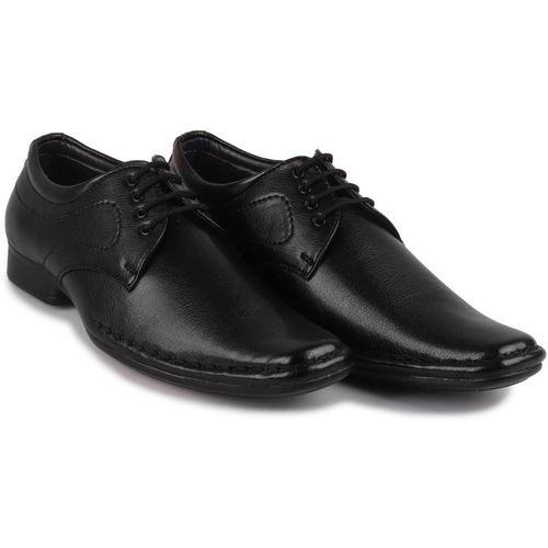 FAUSTO Corporate Dress Derby For Men(Black)