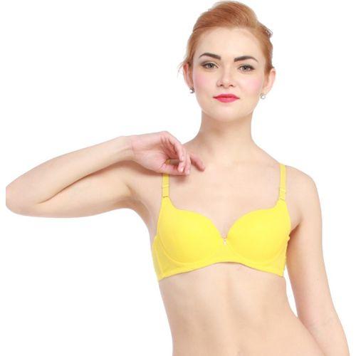 Glus byGlupick LiftUP Women Push-up Lightly Padded Bra(Yellow)