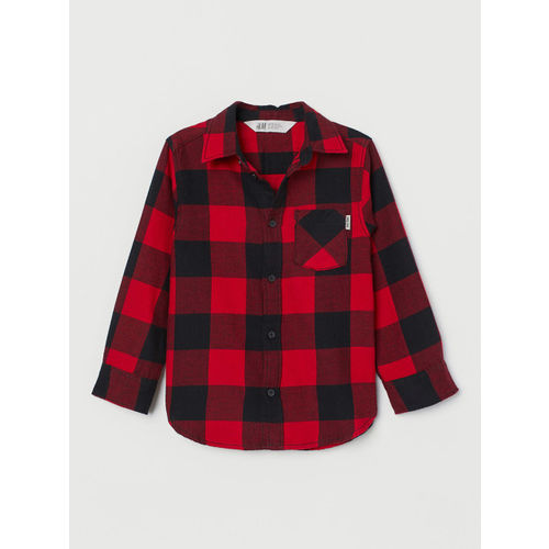 H&M Boys Red Checked Flannel Shirt