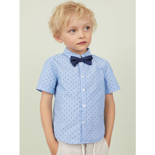 H&M Boys Blue Printed Shirt with a Tie/Bow Tie