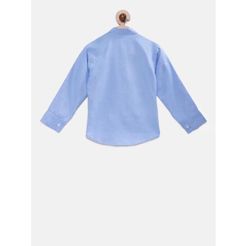RIKIDOOS Boys Blue Regular Fit Solid Casual Shirt