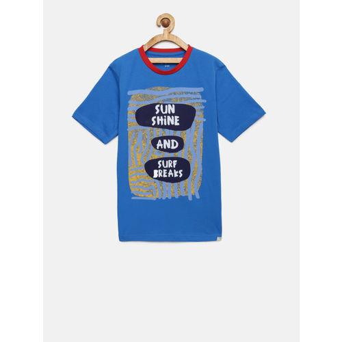 Bossini Boys Blue Printed T-shirt