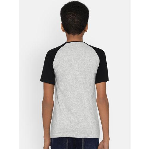 Bossini Boys Grey Printed Round Neck T-shirt
