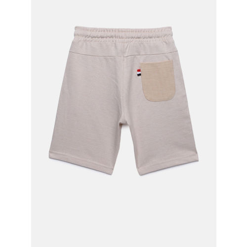 Bossini Boys Off-White Solid Regular Fit Shorts
