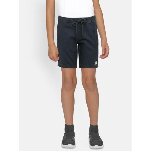 Bossini Boys Navy Blue Solid Regular Fit Shorts