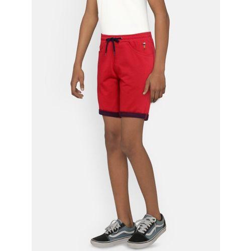 Bossini Boys Red Solid Regular Fit Regular Shorts