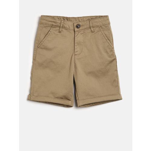Bossini Boys Khaki Solid Regular Fit Regular Shorts