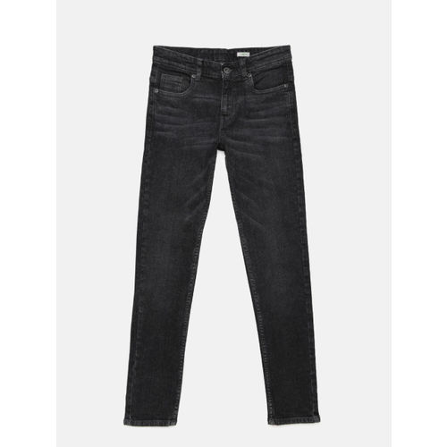 Bossini Boys Charcoal Grey Skinny Fit Mid-Rise Clean Look Jeans