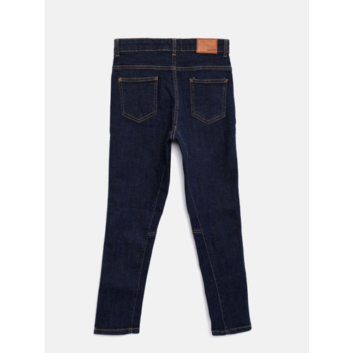 Bossini Boys Blue TYRON Slim Fit Mid-Rise Clean Look Jeans