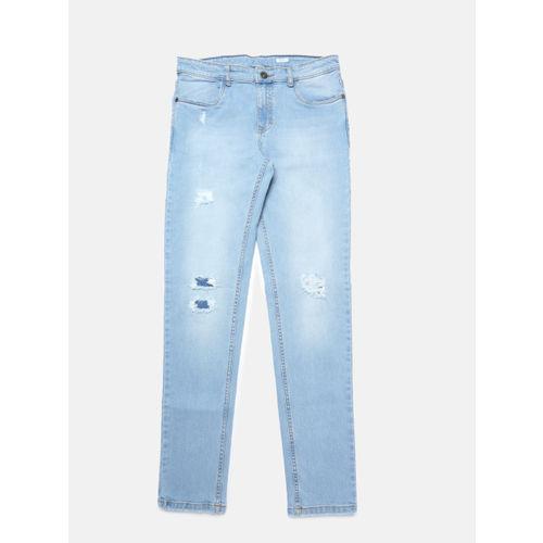 Bossini Boys Blue Regular Fit Mid-Rise Low Distress Jeans
