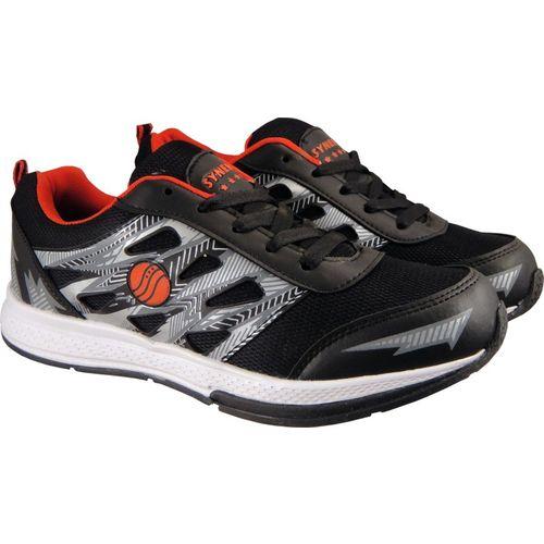 Action Synergy Men's SRF0094 Black/Red Phylon Sole Sports Walking Shoes For Men(Red, Black)