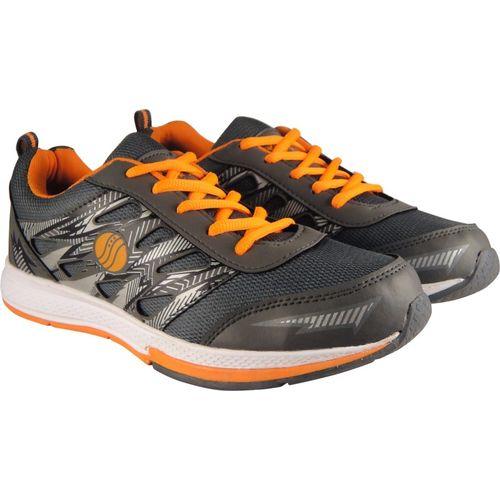 Action Synergy SRF0094 Grey/Orange Phylon Sole Sports Walking Shoes For Men(Orange, Grey)