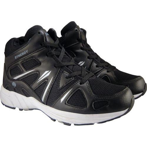Action Synergy Men's SRH7236 Black/Silver Phylon Sole Sports Running Shoes For Men(White, Black)