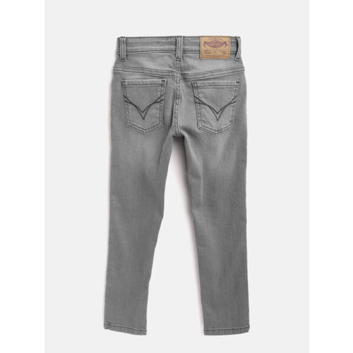 Flying Machine Boys Grey Skinny Fit Mid-Rise Clean Look Stretchable Jeans