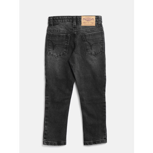 Flying Machine Boys Charcoal Grey Slim Fit Mid-Rise Clean Look Stretchable Jeans