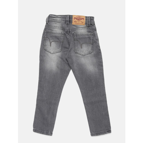 Flying Machine Boys Grey Skinny Fit Mid-Rise Clean Look Jeans