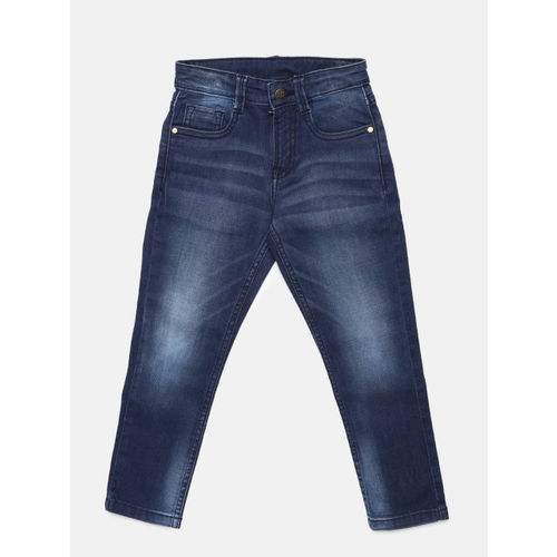 Flying Machine Boys Blue Skinny Fit Mid-Rise Clean Look Jeans