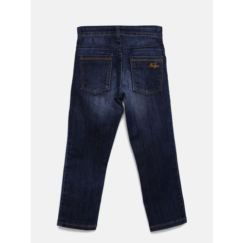 Flying Machine Boys Blue Slim Fit Mid-Rise Low Distress Stretchable Jeans