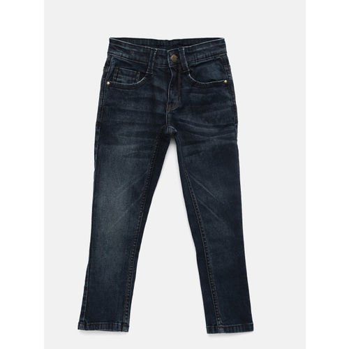 Flying Machine Boys Blue Slim Fit Mid-Rise Clean Look Jeans