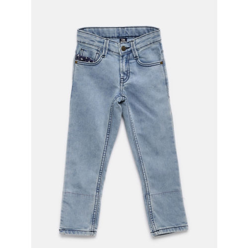 Flying Machine Boys Blue Skinny Fit Mid-Rise Clean Look Stretchable Jeans