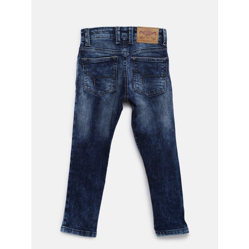 Flying Machine Boys Blue Slim Fit Mid-Rise Clean Look Stretchable Jeans