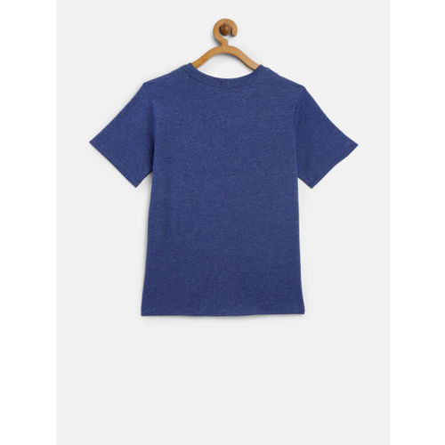 The Childrens Place Boys Blue & White Printed Round Neck T-shirt