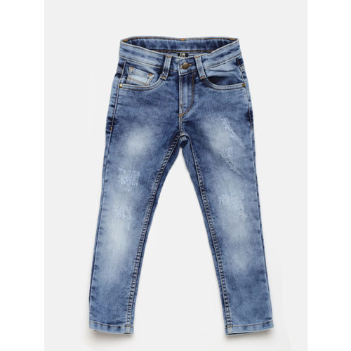 Flying Machine Boys Blue Skinny Fit Mildly Distressed Stretchable Jeans
