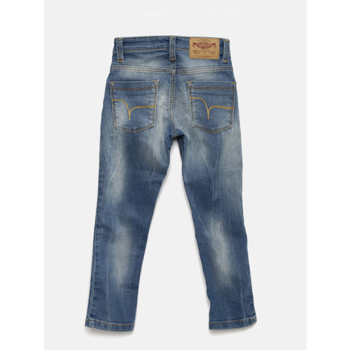 Flying Machine Boys Blue Washed Jeans