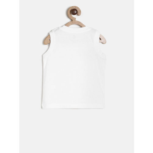Juniors by Lifestyle Boys White Printed Round Neck T-shirt