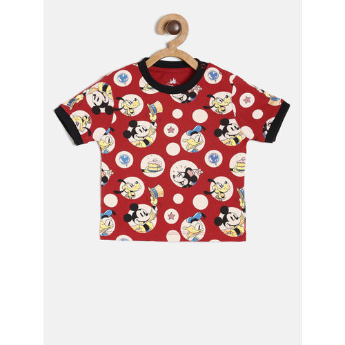 Juniors by Lifestyle Boys Red Printed Round Neck T-shirt