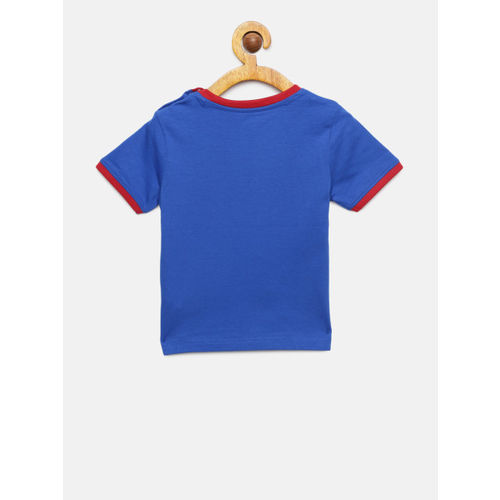 Juniors by Lifestyle Boys Blue Printed Round Neck T-shirt