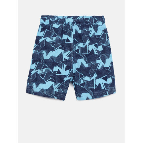 Juniors by Lifestyle Boys Blue Printed Regular Fit Regular Shorts
