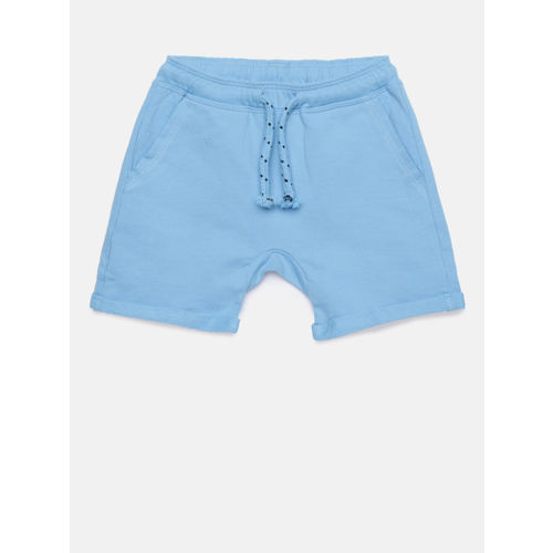 Juniors by Lifestyle Boys Blue Solid Regular Fit Regular Shorts