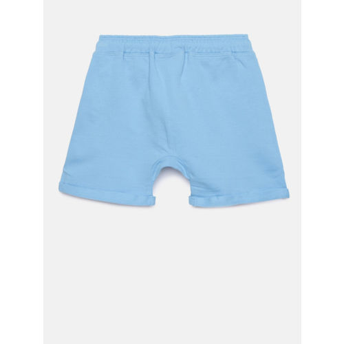 Juniors by Lifestyle Boys Blue Solid Regular Fit Regular Shorts