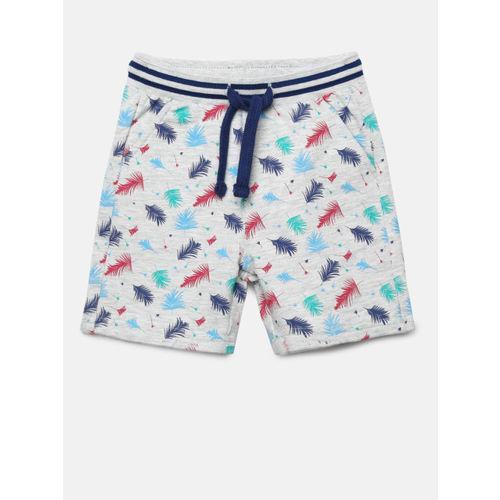 Juniors by Lifestyle Boys Grey Melange Printed Regular Fit Shorts