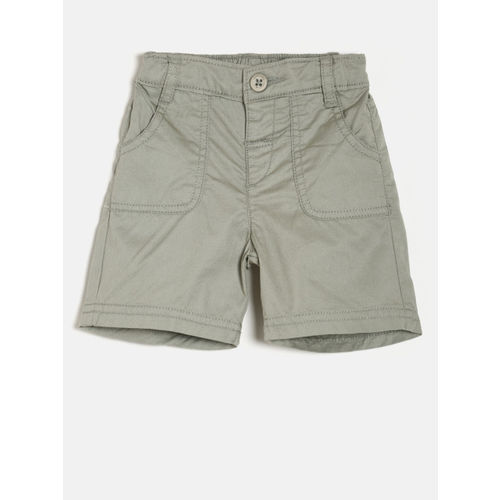 Juniors by Lifestyle Boys Light Green Solid Regular Fit Shorts